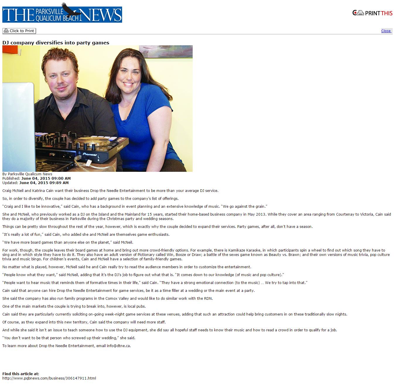 Parksville News